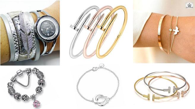 joncs féminin - bracelet tendance - manchette collection de bijoux
