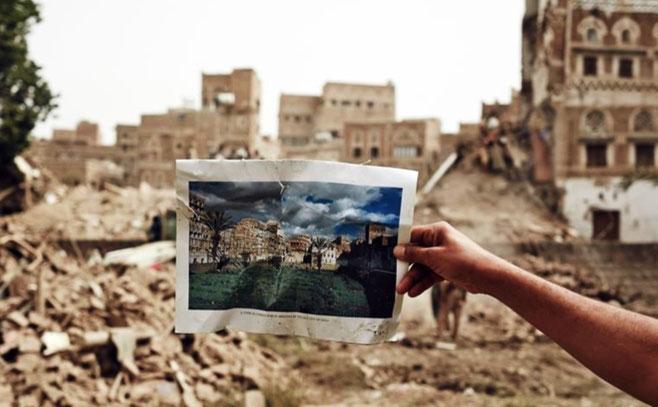 Yemens hovedstad Sanaá efter Saudi-Arabiens bombninger