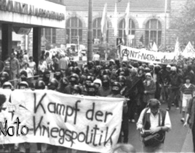 Autonom demo mod USAs vicepræsident Bush senior på statsbesøg i Krefeld 1983