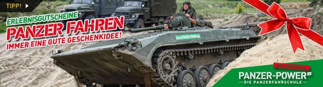 Erlebnisgutschein Panzer fahren - immer eine gute Geschenkidee!