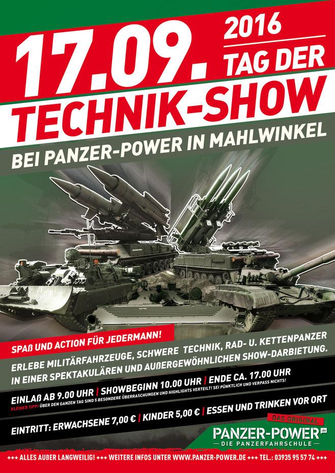 Das Plakat zum Tag der Techik-Show 2016 zum Ausdrucken!