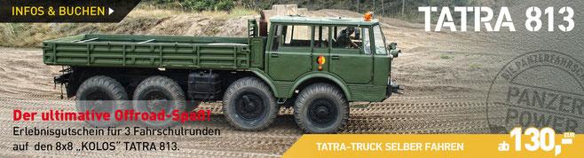 Erlebnisgutschein TATRA 813 8x8 Militärtruck selber fahren