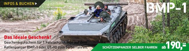 Erlebnisgutschein BMP-1 Schützenpanzer selber fahren