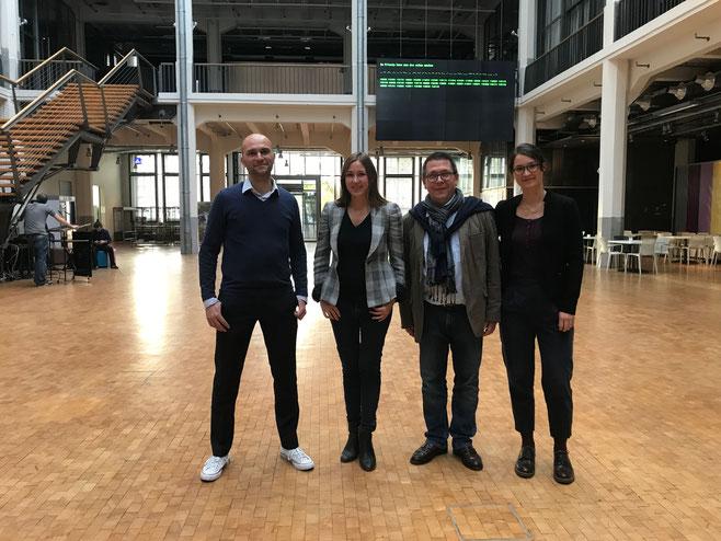 Glückliches Orga-Team nach erfolgreichem Abschluss der Veranstaltung (v.l.: Dirk Herzer, Eleonora Frolov (BVDG), Michael Sturm (1. Vorsitzender LVDG) und Luisa Blendinger (Vorstandsassistenz LVDG)