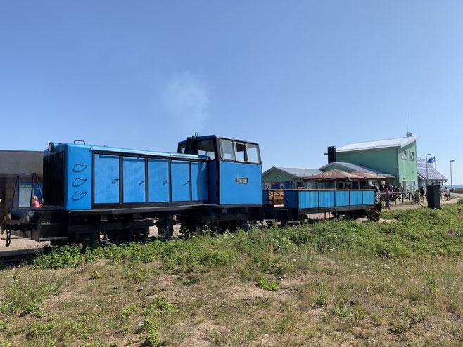 Tallinn, Estland, Naissaar, Zug, train