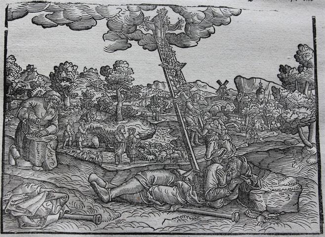 ルター聖書(1534年と1545年)のヤコブの梯子/Wikimedia Commonsより