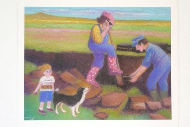 Cutting peat 42.5cmx52.5cm