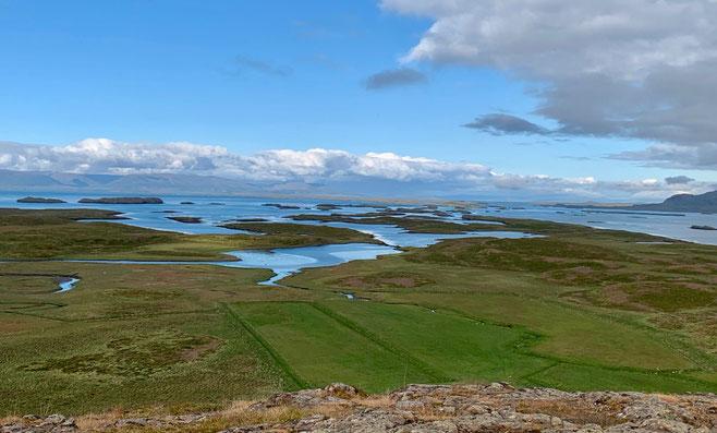 Panorama da Helgafell (a est). Foto di Alessia Paionni