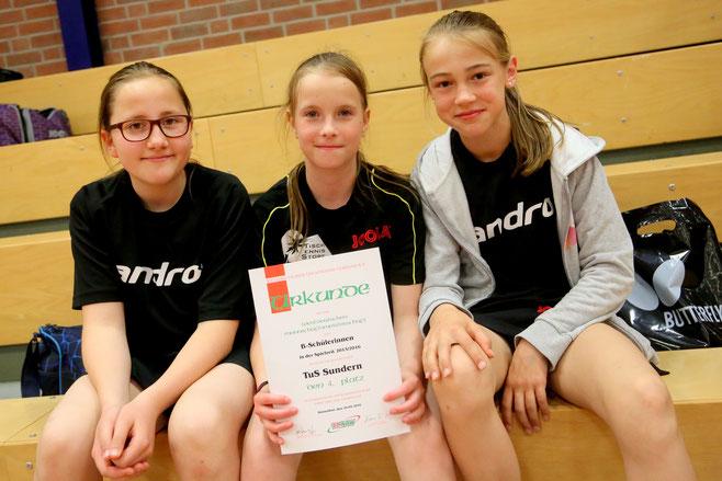 Julia, Medeea und Paula wurden Vierter bei den NRW-Mannschaftsmeisterschaften