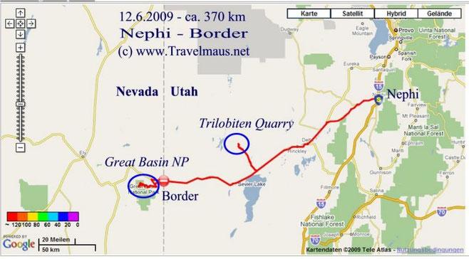 12.6.2009 Nephi - Border 370 km