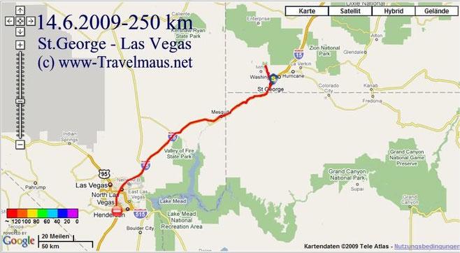 14.6.2009 Saint George - Las Vegas 250 km