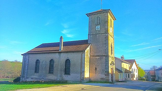 Eglise Saint-Luc - 1835 - Hautmougey (c) Municipalité de LVLB