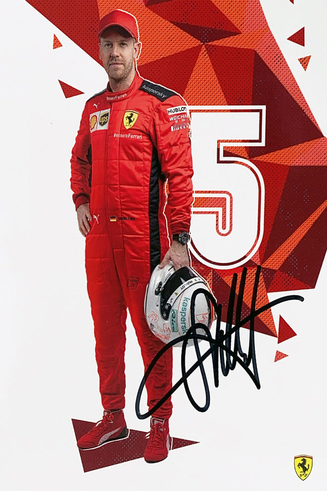 Sebastian Vettel Autograph