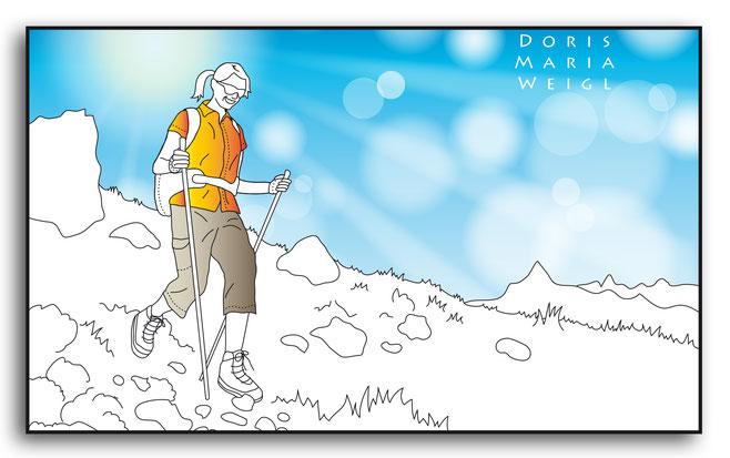 Illustrationen Doris Maria Weigl / Sport / Wandern