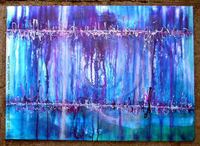 'Secrets behind the Rain' - 2016/31 - Acryl/MixedMedia auf Leinwand - 70 x 50 cm - verkauft (Bayern)