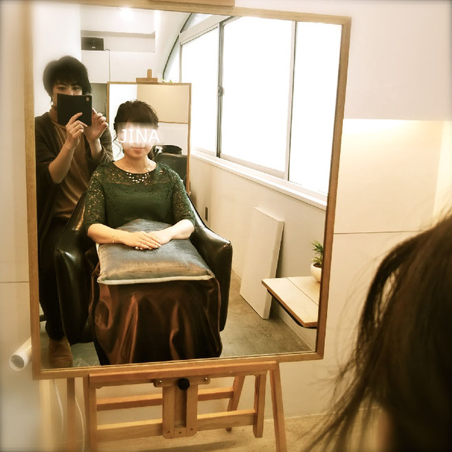 渋谷 表参道 美容室 ヘアサロン JINA hair atelier ジーナ ヘアアトリエ 三井健司 ヘアセット ヘアアレンジ