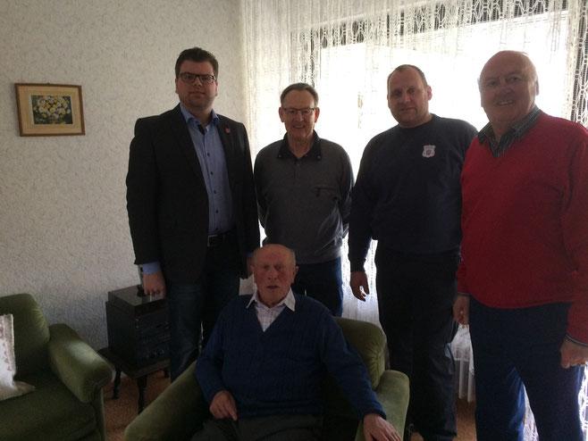 v.l. Ludwig Rastorfer, Hans Kniep, Sepp Oberneder, Bernd App und Peter Mieves