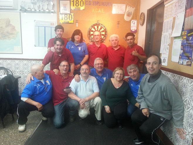 Los dos clubs la temporada pasada 2014/2015