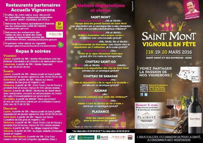 camping gers arros - Programme 1 saint mont vignoble en fete 2016