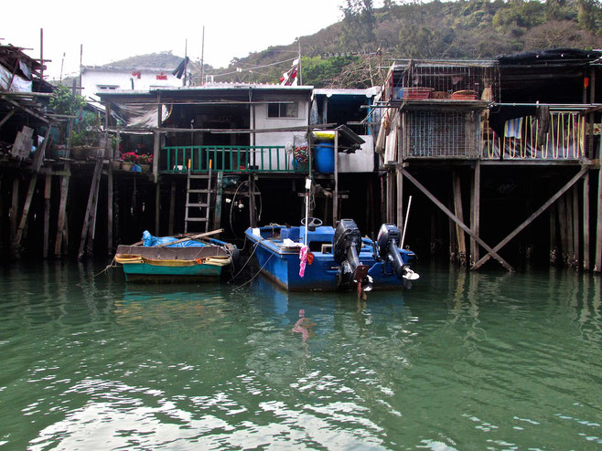 Village on stilts Hong Kong