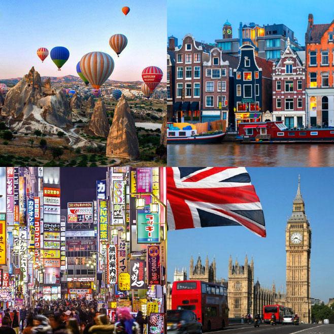 Cappadoica, London, Tokyo, Amsterdam