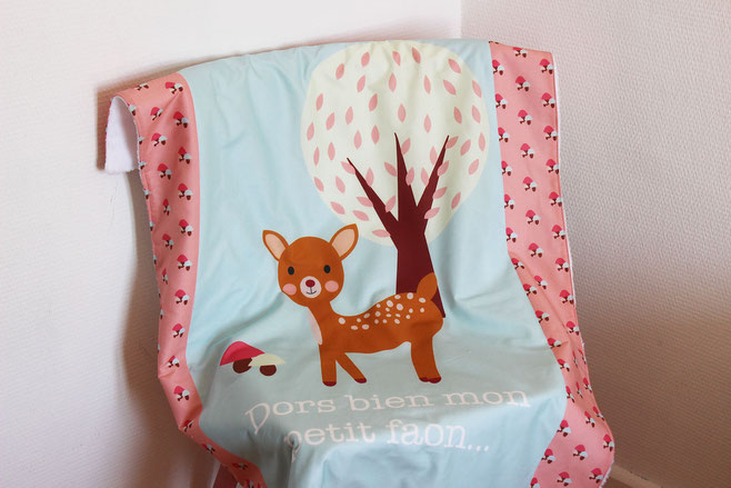 baby blanket biche made in france fait main