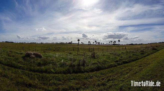 Uruguay - Südamerika - Reise - Motorrad - Honda Transalp - Strecke nach La Paloma