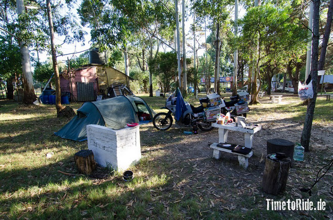 Uruguay - Südamerika - Reise - Motorrad - Honda Transalp - Camping in der Nähe von La Paloma