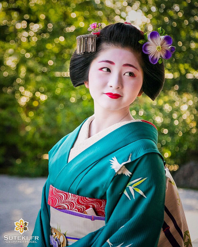 Il y a plus d'un an, je prenais le portrait de la maiko Satsuki, avant qu'elle ne devienne geiko