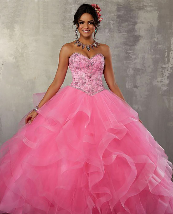 quinceañera color rosa