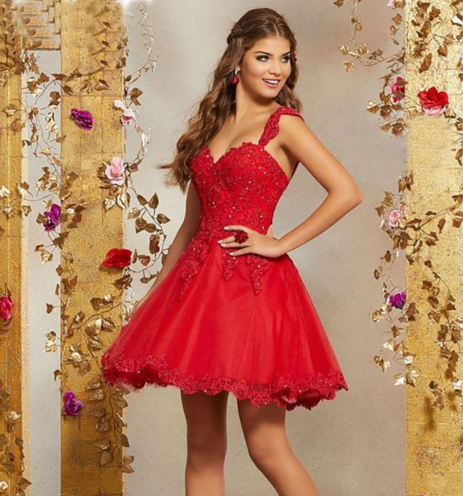 vestidos para xv años rojos