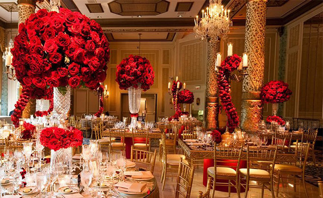 decoracion boda color rojo