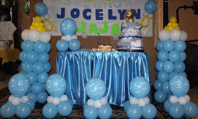 mamilas de globos para baby shower