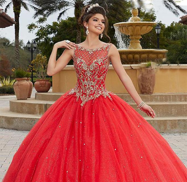 vestidos para quinceañera rojos
