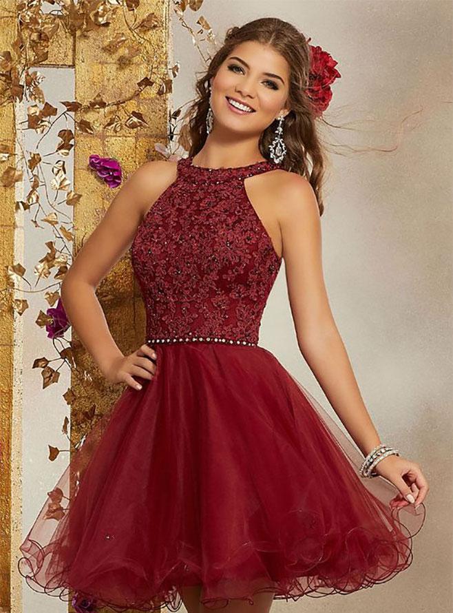 vestidos rojos quinceañeras