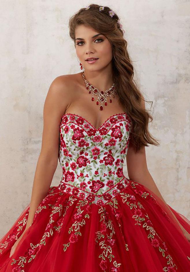 vestidos rojos para xv años