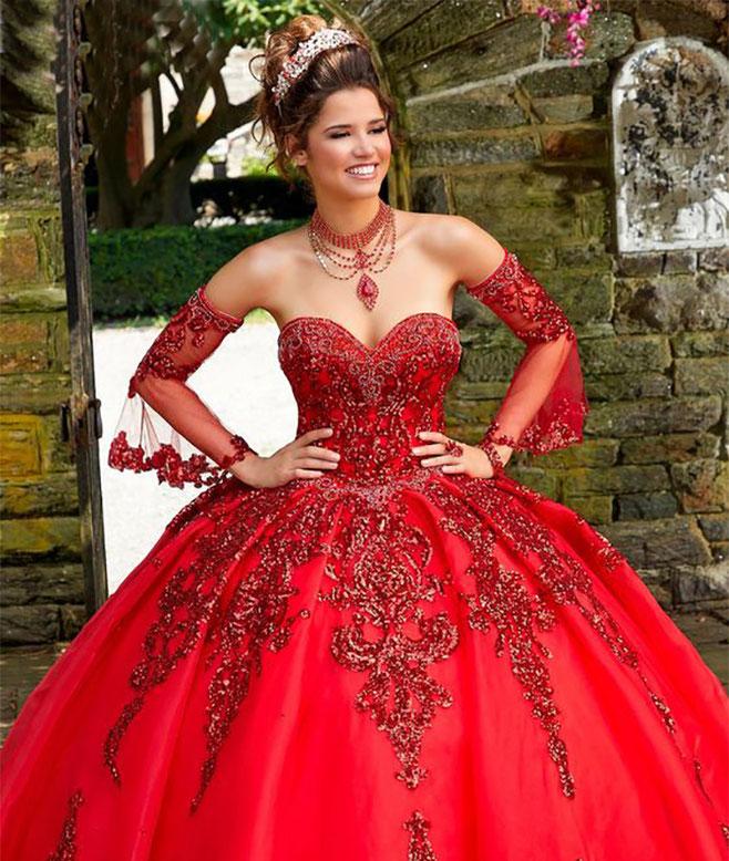 vestidos para 15 años rojos