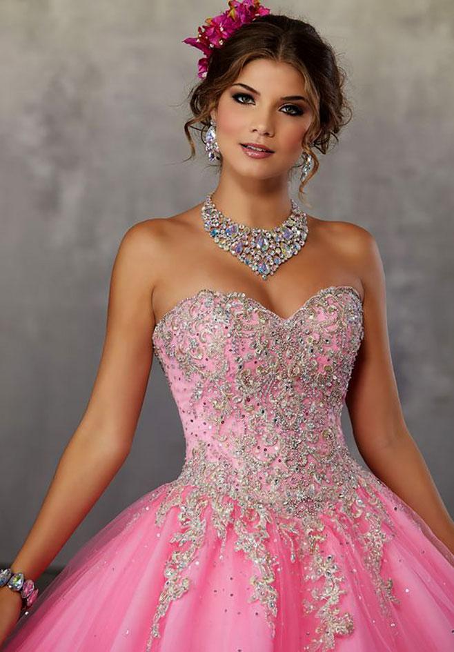 vestidos rosas para quinceañera