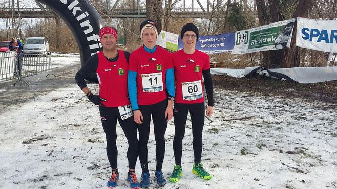 Auch auf Eis und Schnee geben unsere Läufer das Beste! Super Beda, Gerhard & Michi