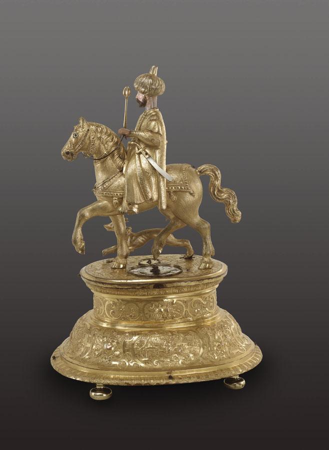 Automatenuhr mit osmanischem Reiter