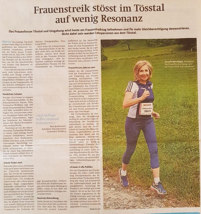 Bericht Der Tössthaler vom 14. Juni 2019