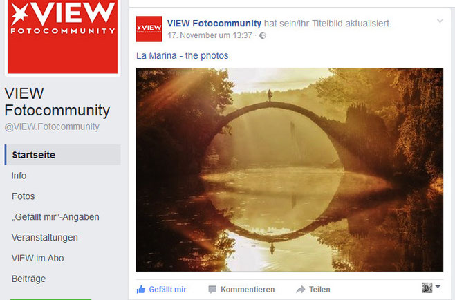 Titelbild bei der View Fotocommunity online , November 2016