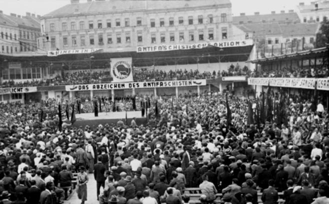 Forsamling af 'Antifascistisk Aktion' - Wien, 1932