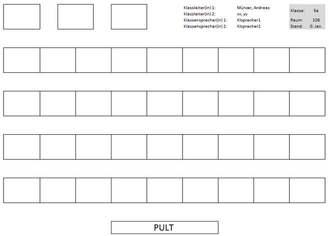 Sitzplanmanager Druckansicht