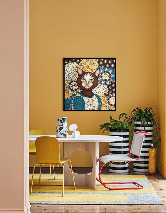 Tableau salon jaune provençal - artiste peintre Nantes - Stephanie Le Pitre