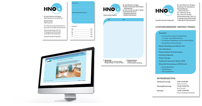 Corporate Design HNO Praxis Berlin