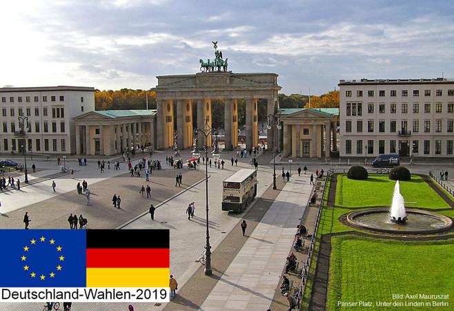 Bild: Axel Mauruszat - Pariser Platz, Unter den Linden in Berlin