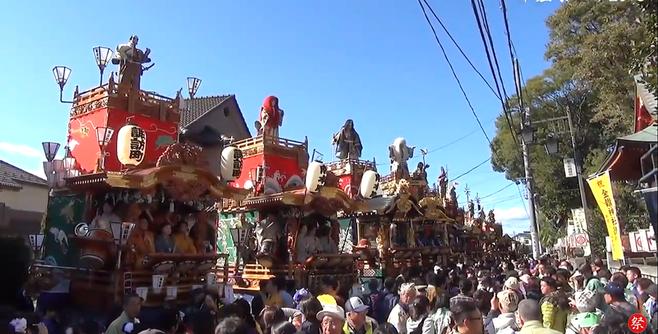 金鑚神社への山車の奉納
