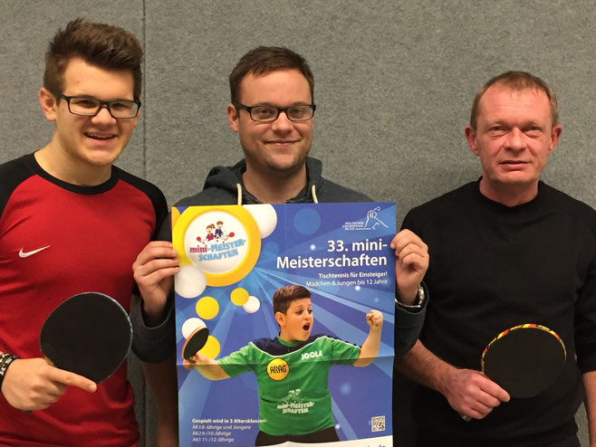 Erwarten viele junge Talente: Das Orga-Team um (v.l.) Lars Klischewski, Nils Steufmehl und Holger Werkmeister