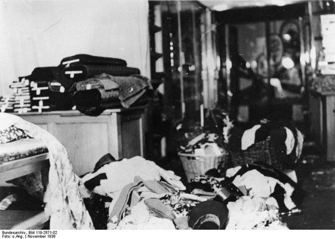 800 jødiske privatboliger blev plyndret